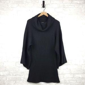 Bebe silk cashmere blend knit sweater tunic | M